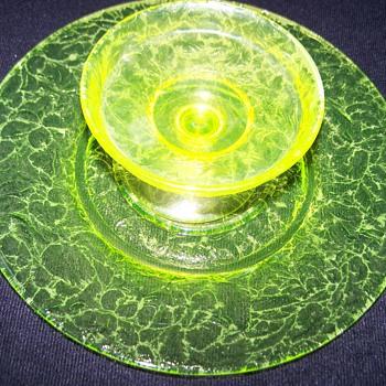 Vaseline Uranium Glass Set  - Glassware