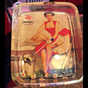 1940's Pinup Mobilgas Socony-Vacuum Advertising Glass Tray
