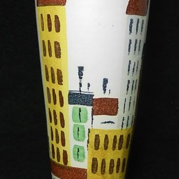 "10"" Bitossi for Raymor ""Cityscape"" Vase - Pottery"