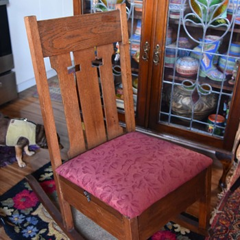 Arts & Crafts Rocking Chair with Pull-out Sewing Drawer - Arts and Crafts