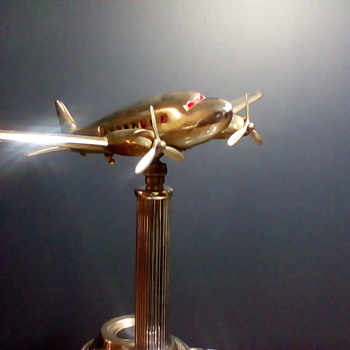 Metal Craft Mfg. DC3 Airplane Ashtray Sort Of - Tobacciana