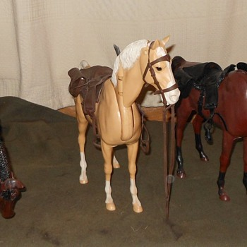 Marx Johnny West Buckskin Horse aka Nodder - Toys