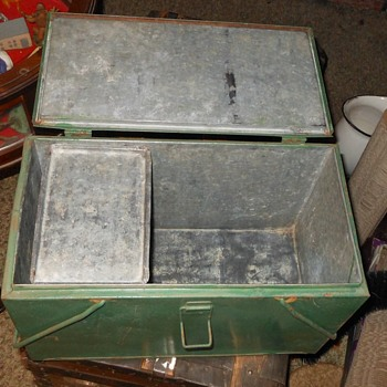 Vintage Preway Cooler with Ice Holder Insert - Advertising