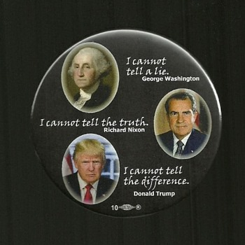 3 more Anti Trump Political Pinback Button's - Medals Pins and Badges