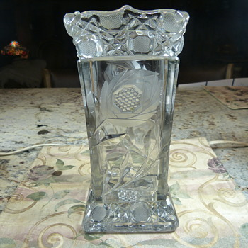 Cut Crystal Square Vase - Glassware