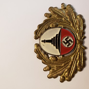 German Luftwaffe badge and a visor cap insignia  - Medals Pins and Badges