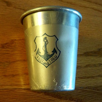"""FEST und TREU"" religious cup with anchor emblem? - Kitchen"