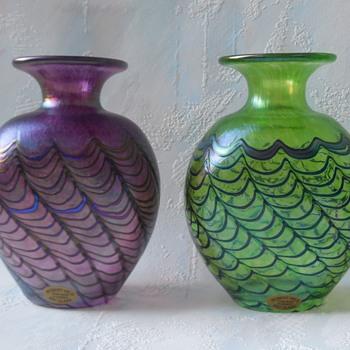 Robert Held Art Glass Vases - Art Glass