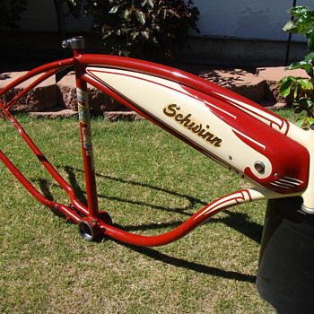 Kevin's 1948 Schwinn B-107 autocycle! - Sporting Goods