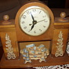 nice united fireplace clock