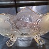 Pressed glass footed bowl.