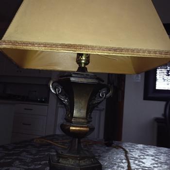 old bronze lamp