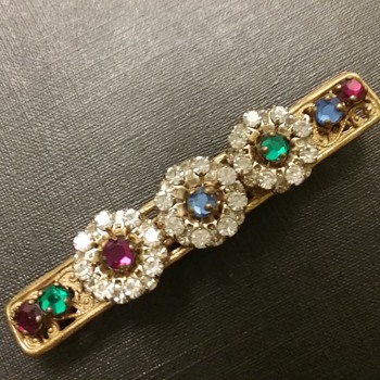 Miriam Haskell bar brooch  - Costume Jewelry