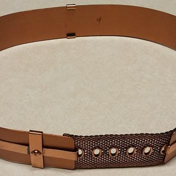 """Vintage 1970s Renoir Copper Corset Belt """"Small"""""""
