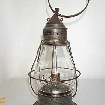 New York & Erie RR Co Fixed Globe Railroad Lantern
