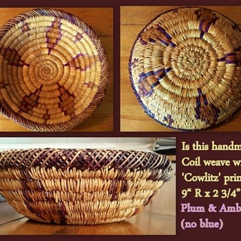 Coiled Basket Plum & Amber
