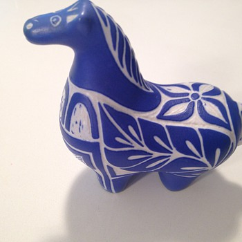 Mystery zebra / horse - Mid-Century Modern