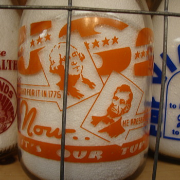 DENVER DAIRYMEN'S ASSOCIATION WAR SLOGAN...DENVER COLORADO - Bottles