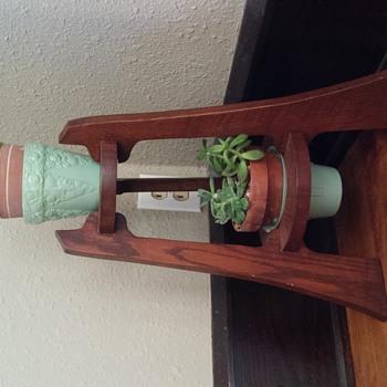 Art Deco glass flower pots. Unknown maker