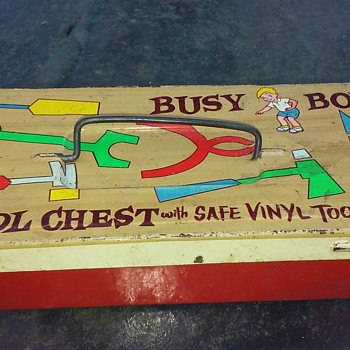 BUSY BOY TOOL CHEST (formerly) with SAFE VINYL TOOLS - Toys