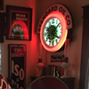 1930's Pinwheel Neon Clock got a Standard Oil Co. marquee sign