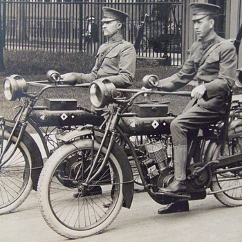 Indian Motorcycles in the US Army Signal Corps - Photographs
