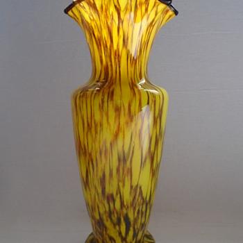 Czech Art Deco Vase - Art Glass