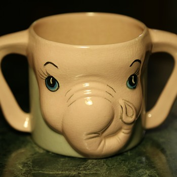 Child's Mug - a Pink Elephant! - Kitchen