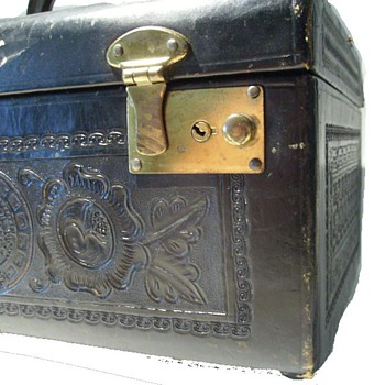Tooled Leather Train // Travel Case - Bags