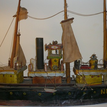 Folk Art Ship Model Collection Jim Linderman - Folk Art