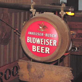 1934 1st post prohibition outdoor electric sign by Ant/Busch (Budwiser) - Signs