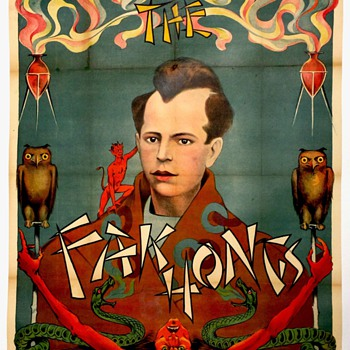 "Original ""Fak Hongs"" Stone Lithograph Poster - Posters and Prints"
