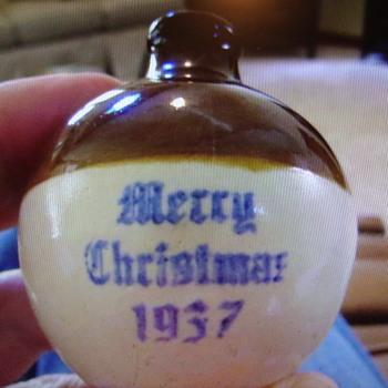 1937 UHL Merry Christmas Stoneware Jug....... - Pottery