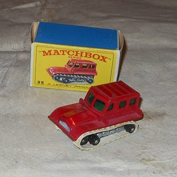 Matchbox 35B Snow Trac tractor - Model Cars