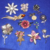 Flower Pin and Brooch Mixed Lot