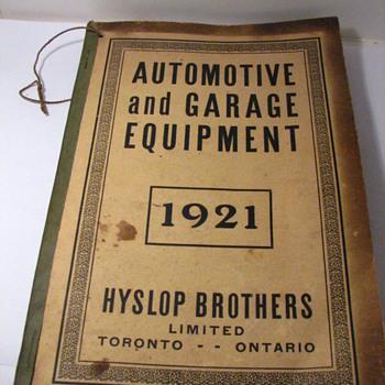 1921 HYSLOP BROS. TORONTO AUTO & GARAGE CATALOG - Books