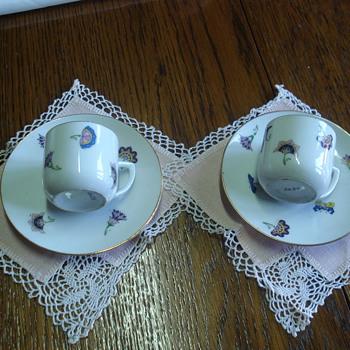 Art Deco German coffee cups