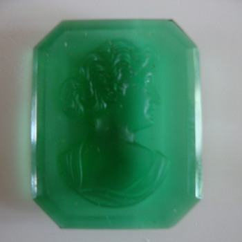 green cameo harder than glass