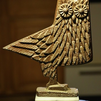 Midcentury Owl Sculpture