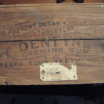 Old Dentyne Gum Shipping Crate - Advertising