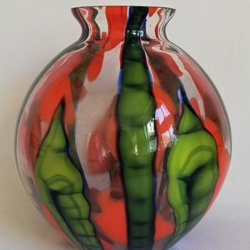 Kralik Bambus Vase - Art Glass