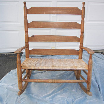 Ladder back settee/loveseat rocking chair - Furniture