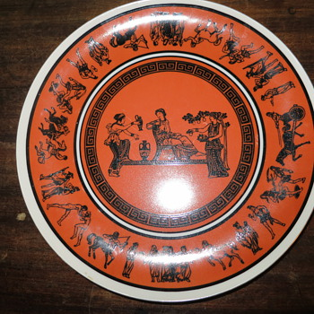 Metaxa plate imported greek liqueuers... - China and Dinnerware