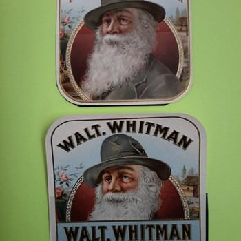 Walt Whitman cigar label collection  - Advertising