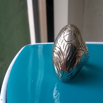 Hand Etched Sterling Ring - Pawn Shop Find $5.00 - Fine Jewelry