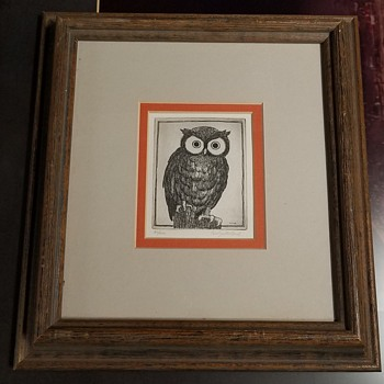 Owl Etching #90/200 by Carolyn Millard - Posters and Prints