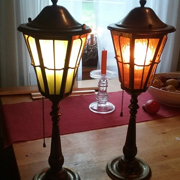 Beautiful brass and glass lamps - Lamps