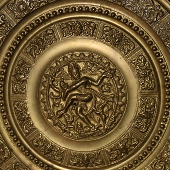 Large and Thick Brass Medallion - Shiva - the Destroyer! - Asian