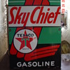 1947 Sky Chief Gasoline Texaco Pump Plate Porcelain Sign...Four Colors