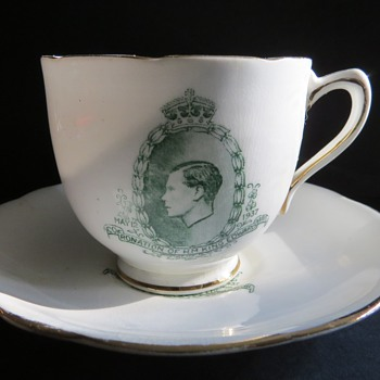 Royal Stafford Edward VIII Coronation Cup and Saucer - China and Dinnerware
